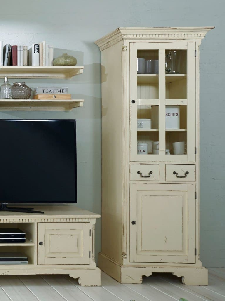 wohnwand york shabby chic cremeweiss massiv pick up m bel. Black Bedroom Furniture Sets. Home Design Ideas