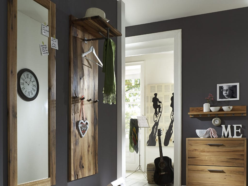 wandpaneel eiche rockit garderobe mit ablage massiv pickupm. Black Bedroom Furniture Sets. Home Design Ideas