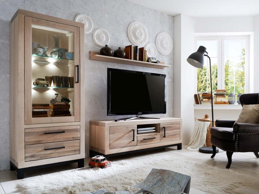 wohnwand balkeneiche massiv valentino pick up m bel. Black Bedroom Furniture Sets. Home Design Ideas