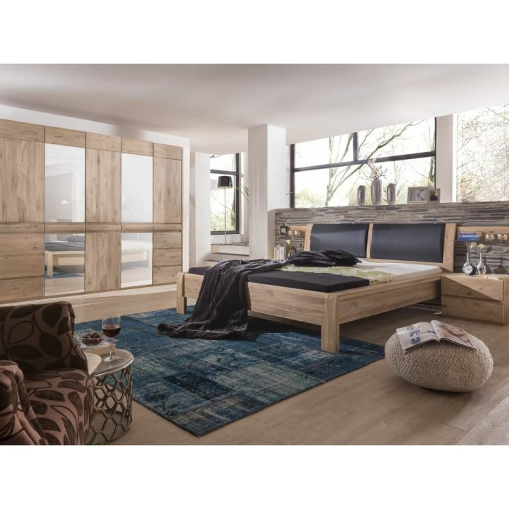 Schlafzimmer Eiche bianco komplett Pick-Up-Möbel