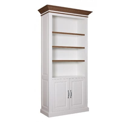 Bücherregal Landhausstil York Shabby chic Oak 2 Türen