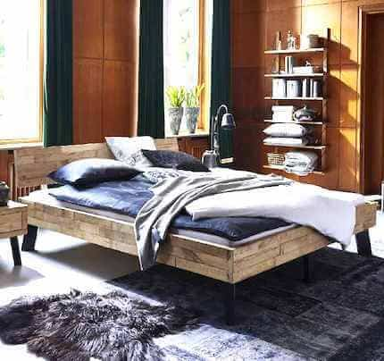 Bett Eiche Timber Modern Sleep