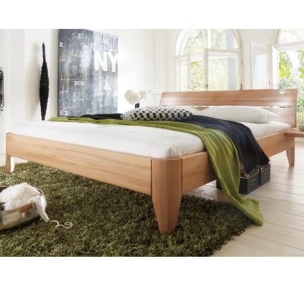 Bett 180x200 cm Kernbuche massiv geölt Easy Sleep