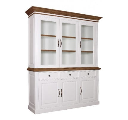 Buffetschrank Landhausstil York Shabby chic Oak 3 Türen