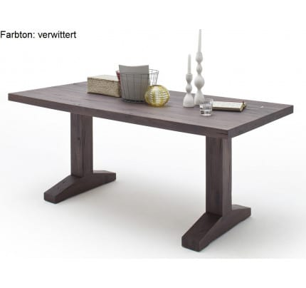 MCA furniture Lunch Esstisch Eiche massiv 180x90 verwittert