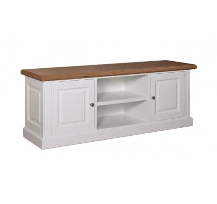 Fernsehkommode Landhausstil York Shabby chic Oak 2 Türen