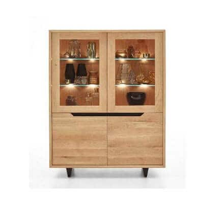 Highboard Wildeiche massiv EXTREME