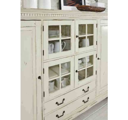 Highboard massiv York Shabby-chic