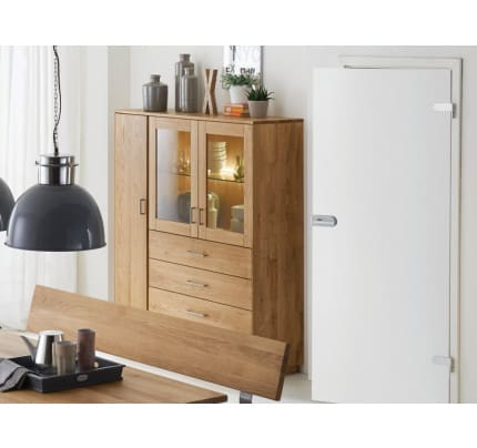 Highboard TREVA Eiche Massiv geölt
