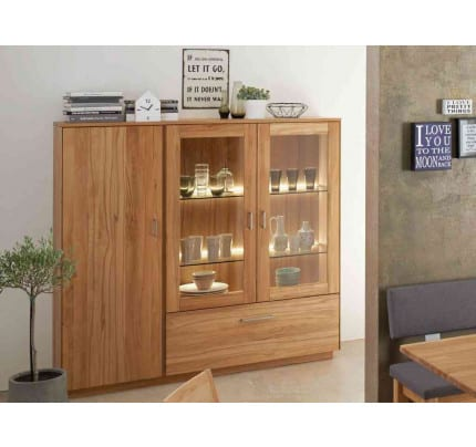TREVA Highboard Kernbuche massiv