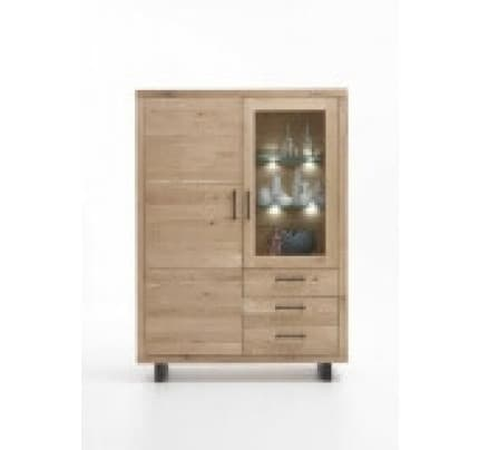 Highboard Wildeiche massiv Woodstock Eiche Massivholz von Bodahl