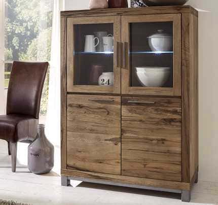Highboard Wildeiche Massivholz bassano Wales