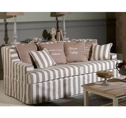 Hussensofa Landhausstil Virginia 2-Sitzer