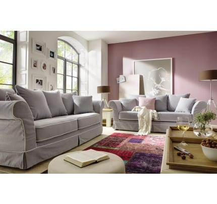 Landhausstil Hussensofa Key West 3 Sitzer