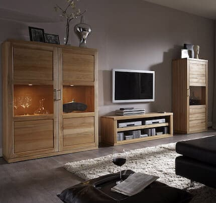 Bianca Highboard massiv 1 Tür