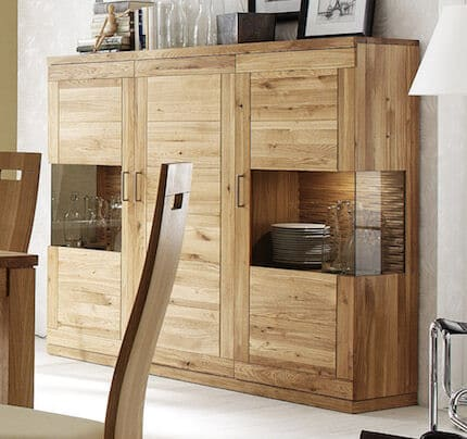Dudinger Highboard Sandra massiv Wildeiche