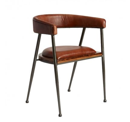 Industrial Design Stuhl London rose brown von Fuhrhome