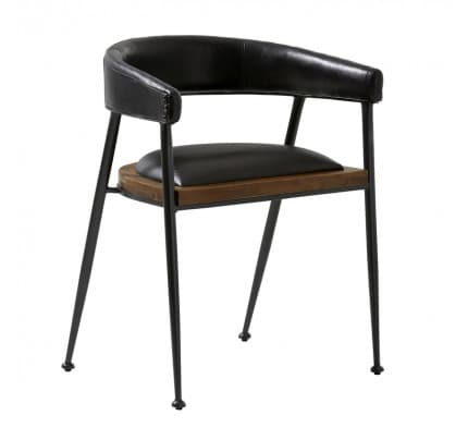 Industrial Stuhl Vintageleder London black von Fuhrhome