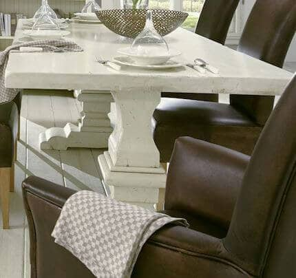 Klostertisch massiv YORK Shabby-chic