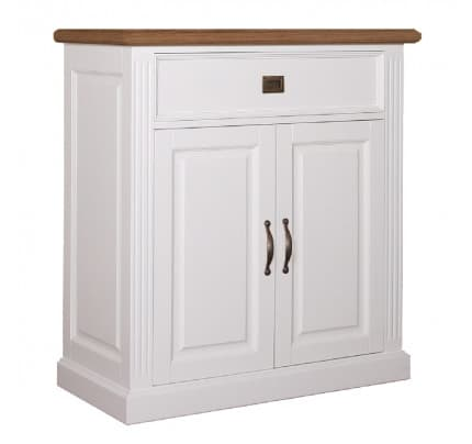 Kommode Landhausstil York Shabby chic Oak 2 Türen 1 Schublade
