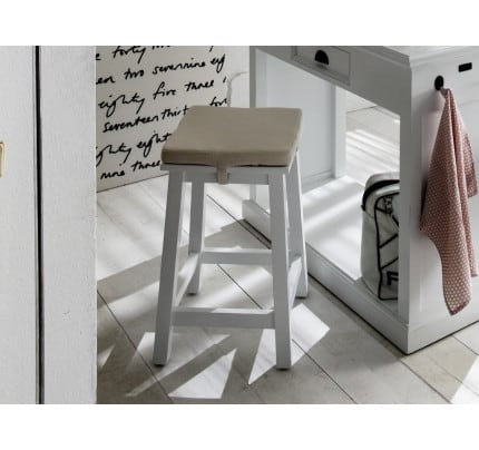 Landhausstil Hocker weiß antik HalifaxT767-Stool