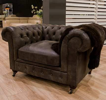 Ledersessel Chesterfield
