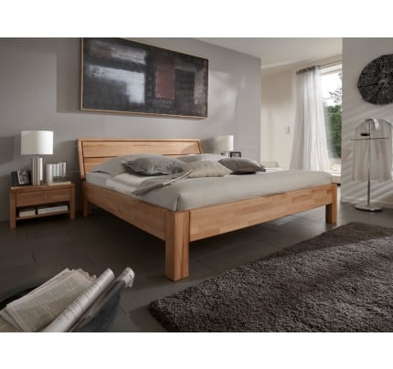 Massivholz Bett Kernbuche Easy Sleep 200x200 cm