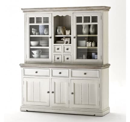 Buffetschrank Landhausstil massiv antikweiss Opus Kiefer