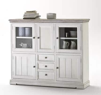 Highboard massiv Opus Landhausstil aus Kiefer