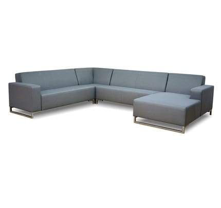Outdoor Loungesofa Cannes mit Chaiselongue wetterfest