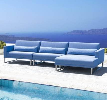 Outdoor Sofaecke Sierra mit Chaiselongue wetterfest