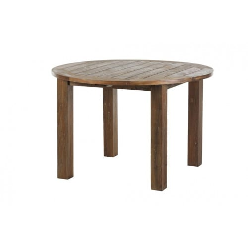 Gartentisch Rund Teak Belmont 120cm Recycled Pick Up Mobel