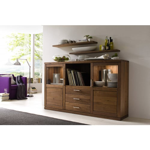 Sideboard Massivholz Glas Bianca Mobel Gunstig Online Kaufen Pick Up