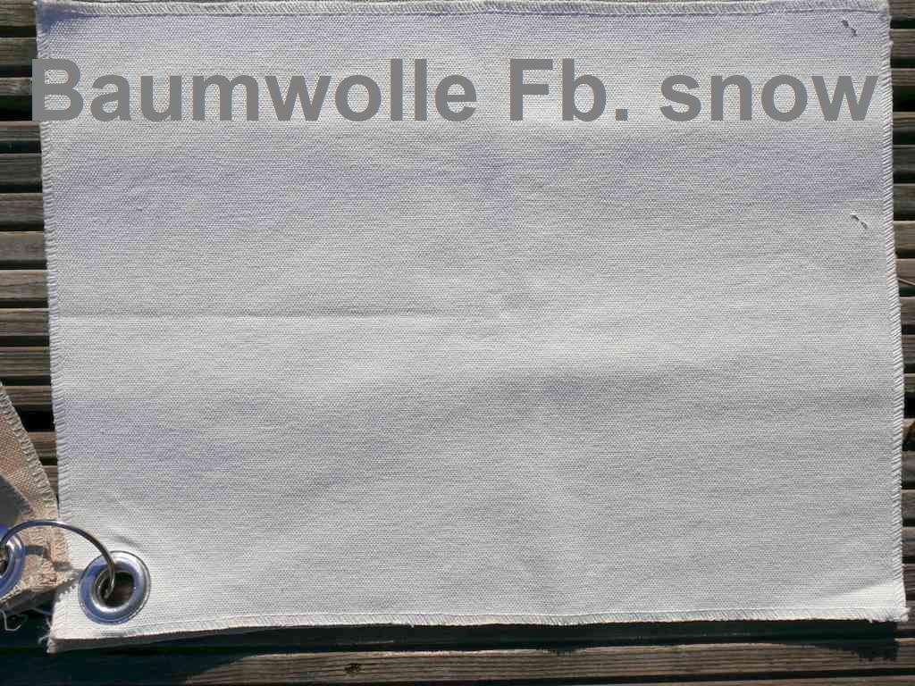Farbe Snow Baumwolle