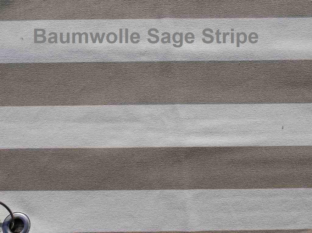Sage Stripe Baumwolle